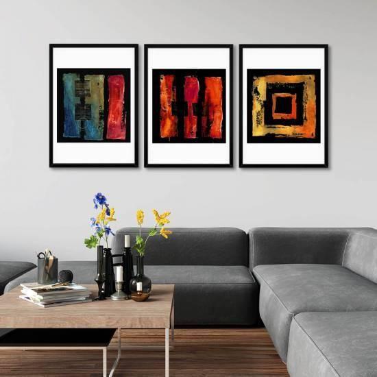 Sanatsal Tasarım 3 Parça Poster Set
