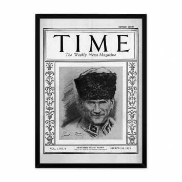 Time Dergisi Atatürk Çerçeveli Tablo