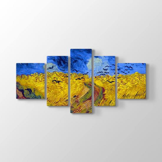 Van Gogh 5 Parçalı Tablo (Kampanyalı)
