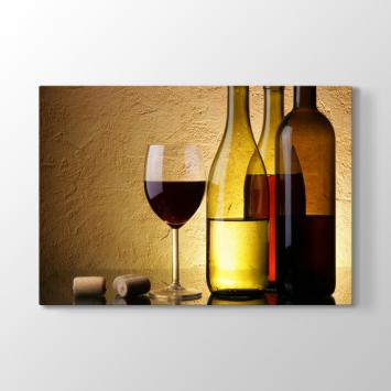 Dekoratif Şarap Tablosu (Kampanyalı)
