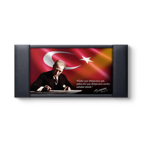 Atatürk Resimli Makam Arkalığı Panosu