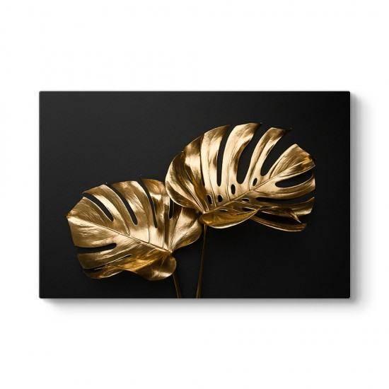 Altın Botanik Yapraklar Tablosu
