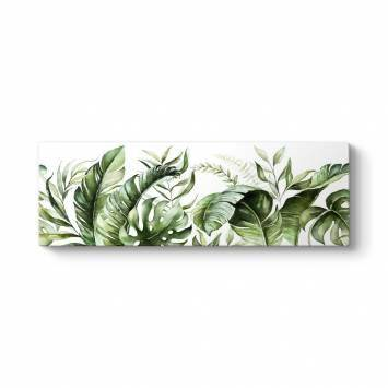 Botanik Yapraklar Kanvas Tablo