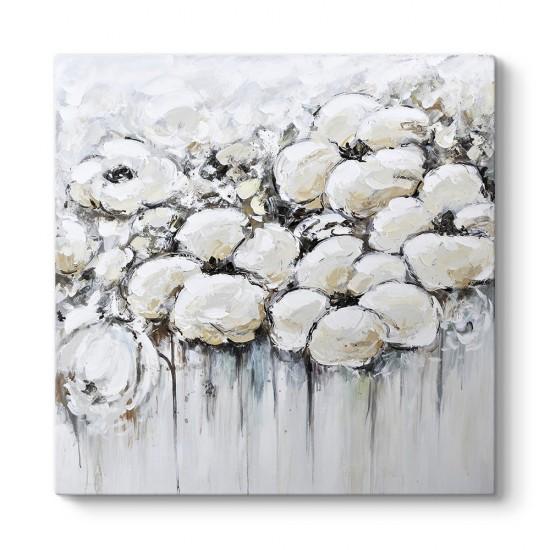 Egzotik Beyaz Çiçekler Kanvas Tablo