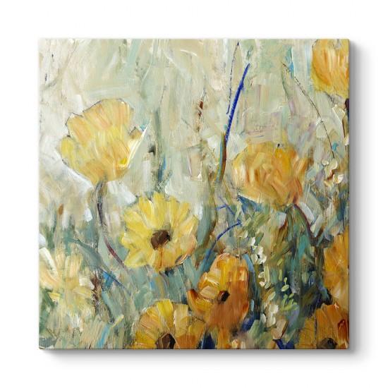 Sarı Çiçek Buketi Tablosu