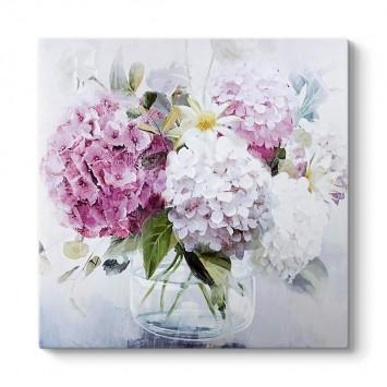 Vazoda Ortanca Çiçekleri Tablosu