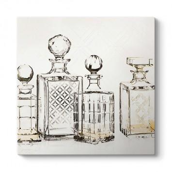 Parfüm Şişeleri Dekoratif Tablo