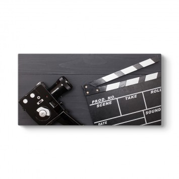 Klaket ve Retro Kamera Tablosu