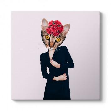 Lady Cat Retro Tablo