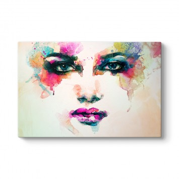 Modern Kadın Yüzü Kanvas Tablosu