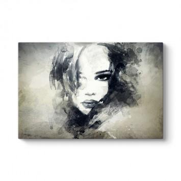Soyut Kadın Portresi Tablosu