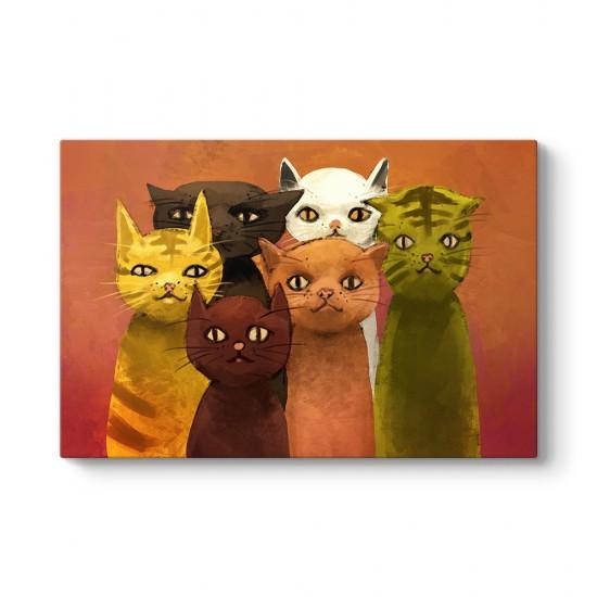 Renkli Kediler Tablosu