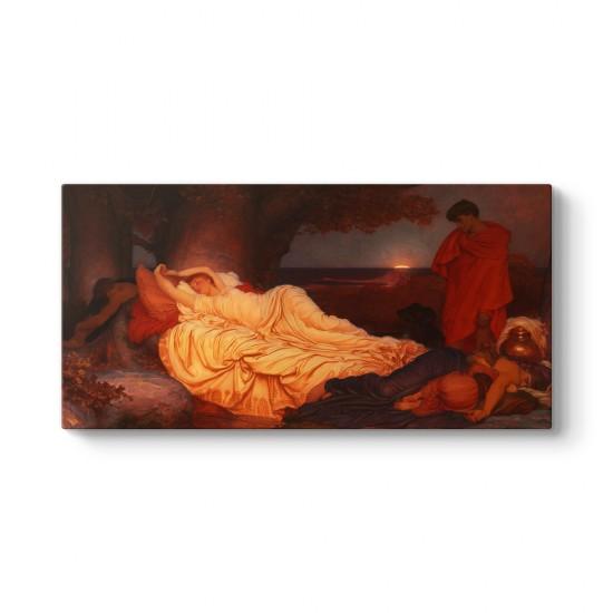 Frederic Leighton - Cymon ve Iphigenia Tablosu