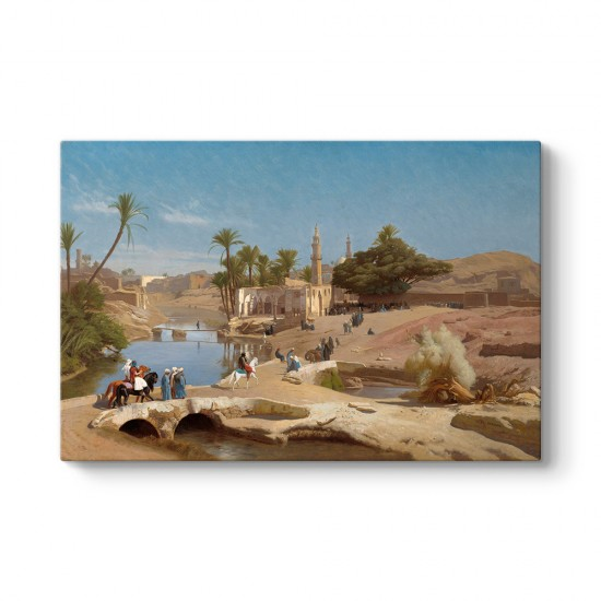 Jean Leon Gerome - View of Medinet El-Fayoum Tablosu