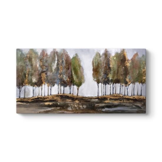 Kavak Ağaçları Manzara Tablosu