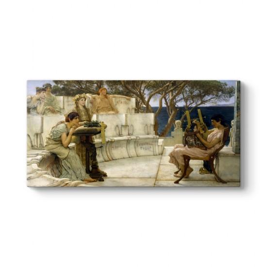 Lawrence Alma Tadema - Sappho ve Alcaeus Tablosu