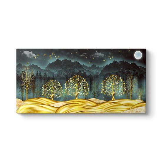 Ormanda Altın Ağaçlar Tablosu