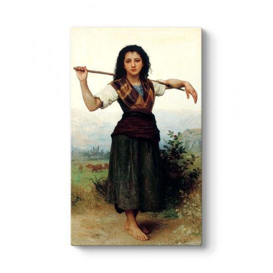 William Adolphe Bouguereau - Küçük Çoban Tablosu