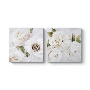 Beyaz Çiçek Buketleri Tablosu