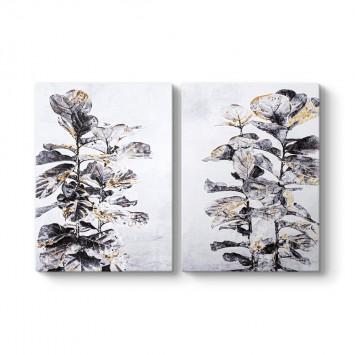 Siyah Çiçek Dalları Tablosu