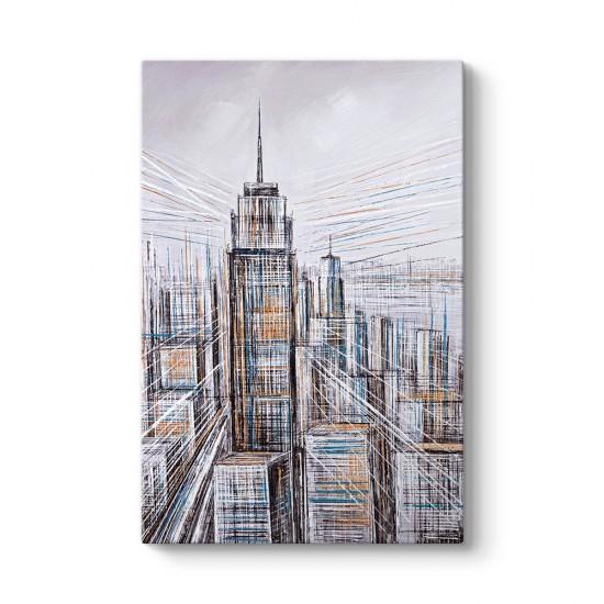 Dekoratif Manhattan Tablosu