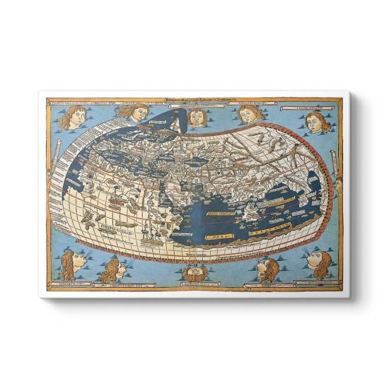 Johannes Schnitzer - 1492 Dünya Haritası Tablosu