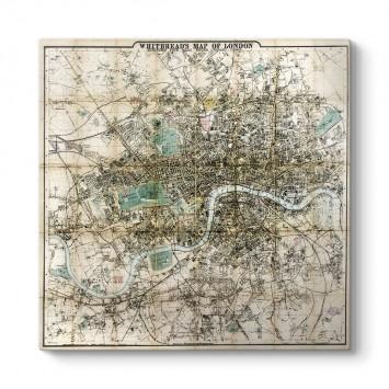 Londra Haritası Kanvas Tablo