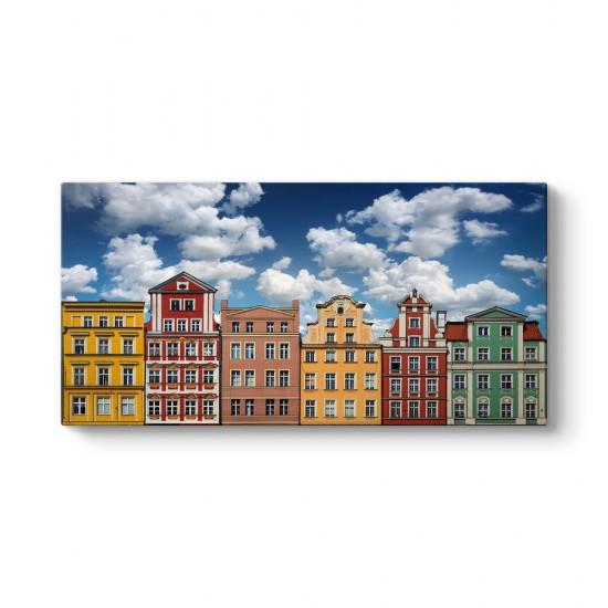 Polonya Renkli Evler Tablosu