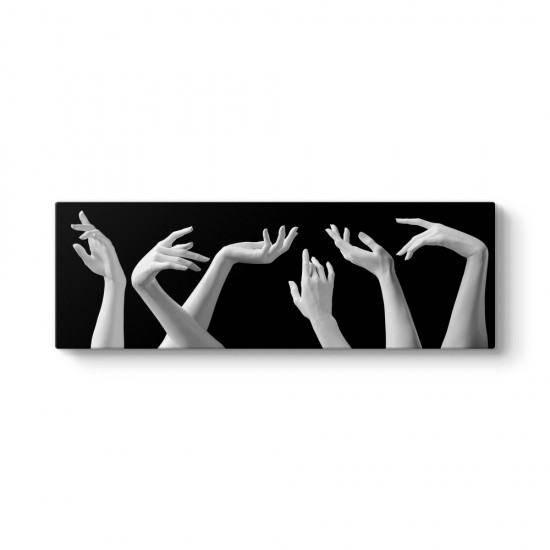 Eller Siyah Beyaz Tablo