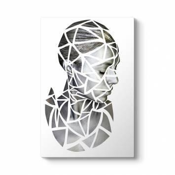 Geometrik Desen Kadın Tablosu