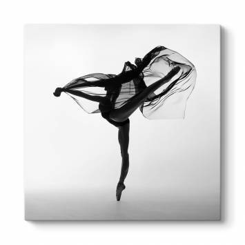 Siyah Beyaz Dansçı Tablosu