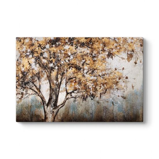 Ağaçlı Soyut Manzarası Tablosu