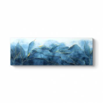 Azur Yapraklar Kanvas Tablo