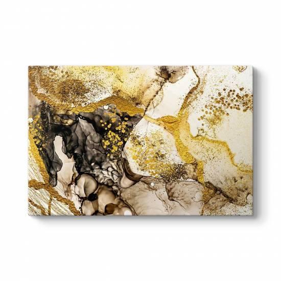 Gold Splash Kanvas Tablo