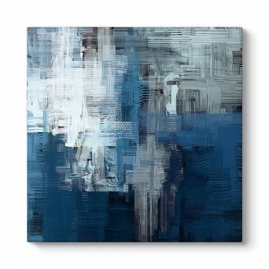 Mavi Gölgeler Kanvas Tablo