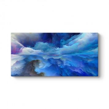 Soyut Mavi Bulutlar Kanvas Tablo