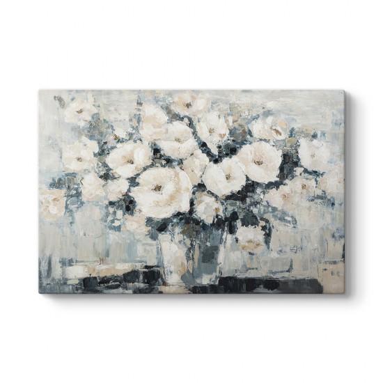 Soyut Vazoda Çiçek Tablosu