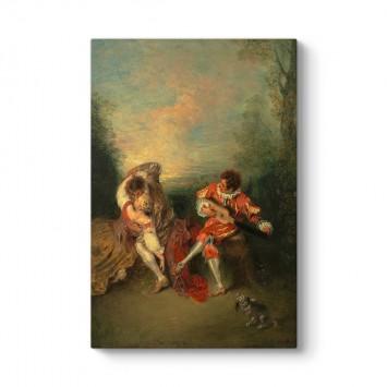 Antoine Watteau - La Surprise Tablosu