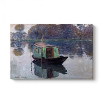 Claude Monet - The Studio Boat Tablosu