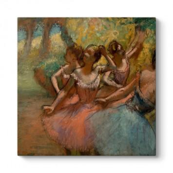Edgar Degas - Sahnede Dört Balerin Tablosu