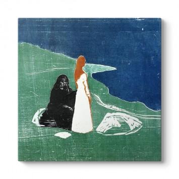 Edvard Munch - Sahilde İki Kadın Tablosu