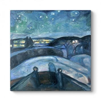 Edvard Munch - Starry Night Tablosu