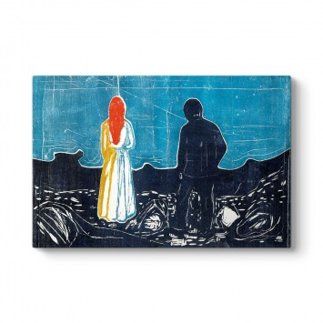 Edvard Munch - Two People - The Lonely Ones Tablosu