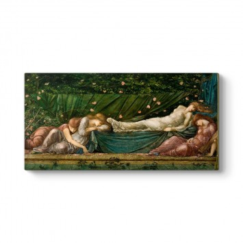 Edward Burne-Jones - Uyuyan Güzel Tablosu