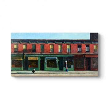 Edward Hopper - Erkenden Pazar Sabahı Tablosu