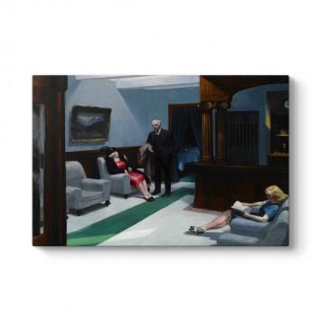 Edward Hopper - Otel Lobisi Tablosu