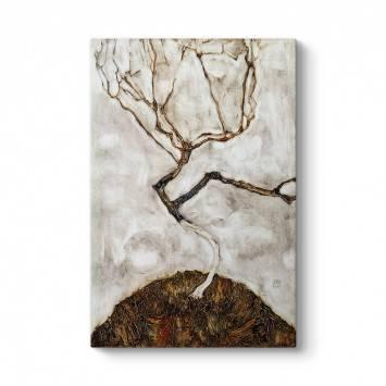 Egon Schiele - Sonbaharda Küçük Ağaç Tablosu