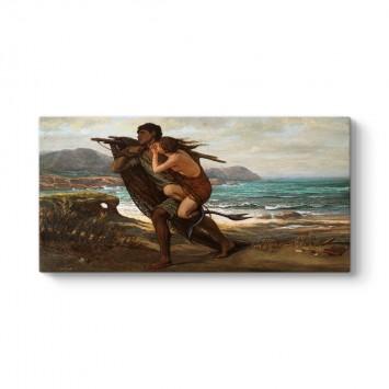 Elihu Vedder - Balıkçı Ve Denizkızı Tablosu