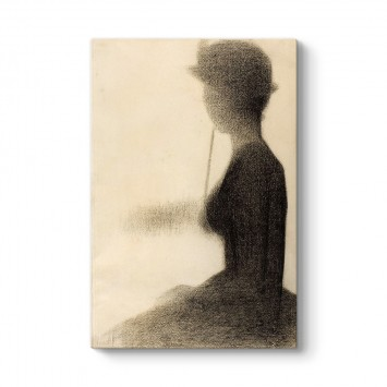 Georges Seurat - Seated Woman with a Parasol Tablosu