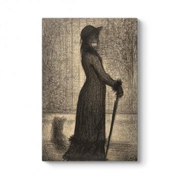 Georges Seurat - Woman Strolling Tablosu